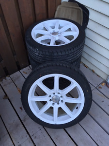17 inch rims - brand new tires 205R45/17 - 4x110 & 4x114.3 NÉGO