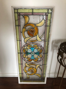 Antique Stained Glass frame