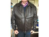 "Men's A2-style Leather Flight Jacket - Chest Size 42"", used for sale  Adel, West Yorkshire"