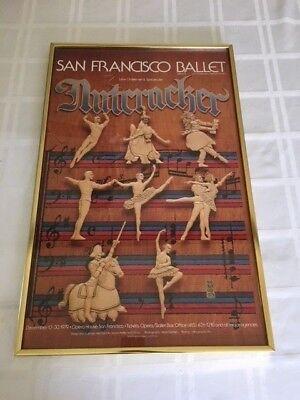 Vintage 1979 Norman Orr San Francisco Ballet Nutcracker Poster Lew Christensen