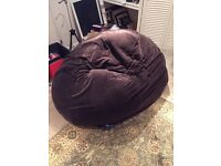Bean2Bed Beanbag/Futon - brown corduroy, £50