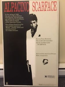 Laminated Large Scarface Posters West Island Greater Montréal image 4