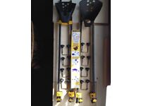2 bike carriers - mount to car roof bars. PRICE REDUCED Now real bargain!!!