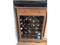 slid wood wine rack / wine cabinet