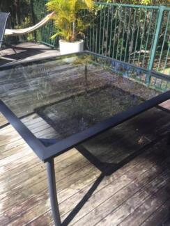 Glass outdoor dinnig table Terrigal Gosford Area Preview