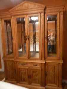 Buffet, Hutch, Dining Table with 6 Chairs