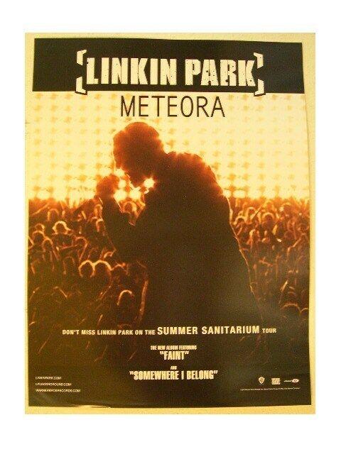 Linkin Park Poster Concert Shot Meteora