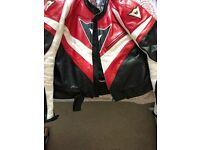 Dainese leather motorbike jacket.