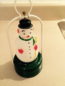 Christmas Snowman Lantern - Battery Operated - Circa 1950s.