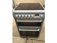 £124.89 hotpoint grey ceramic electric cooker+60cm+3 months warranty for £124.89