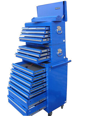 02 US Pro Tools Tool Blue Steel Chest Box roll cabinet toolbox FINANCE AVAILABLE
