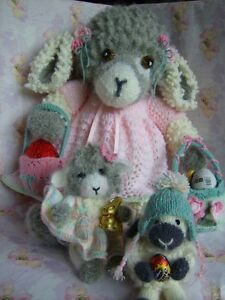 Sweet 'n Nuff for Easter - Lambs + Clothes/accessories soft toy knitting pattern