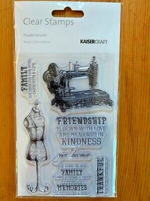 Kaisercraft Mademoiselle Clear Stamp Set - 155mm x 105mm, 7 stamps, CS268