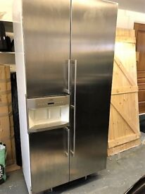Gaggenau American-style stainless steel two-door fridge freezer
