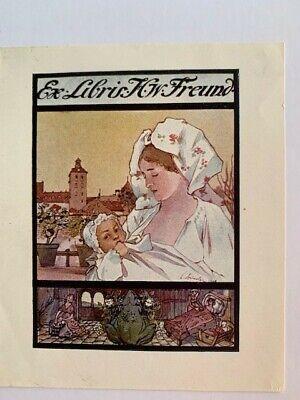 Ex-libris Alsace Charles SPINDLER pour H.W. FREUND, 101 x 73 mm