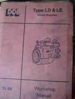 DORMAN TYPE LD & LE DIESEL ENGINES WORKSHOP SERVIVE MANUAL c1978 Dianella Stirling Area Preview