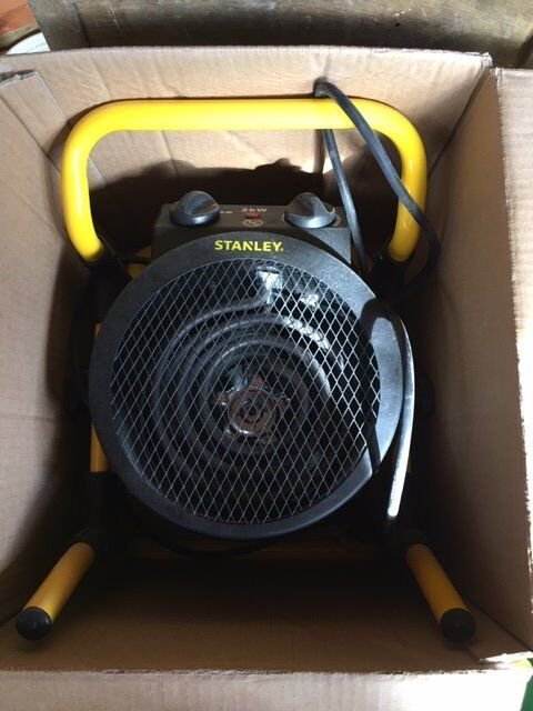 Stanley 2KW turbo fan heater ST 52 241 Ein Bexhill on Sea, East SussexGumtree - Turbo electric space heater. Very good condition, only used once then sitting in my garage. Spec Metal construction. Easy lift handle. Plug and 1.7m cable included. Adjustable Thermostat. 2000W.IP24 Rated.Fan Only Setting. Metal Construction....