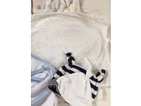 Swaddles for baby and moses basket bedding