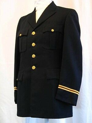 Vintage 1960's US Army Officers Blue Service Military Coat