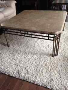 Solid Marble Top Coffee Table