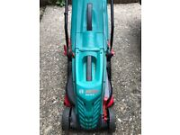 Bosch Rotak 34-13 Lawn Mower - Good Condition + Free strimmer and Garden Tools