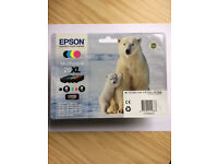 Epson printer cartridges, authentic and unopened, multipack 26XL