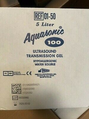 Aquasonic 100 Ultrasound Transmission Gel Hypoallergenic Water Soluble 5 Liter