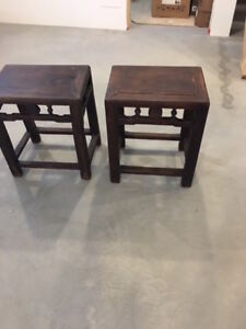 2 TABLES D APPOINT ANTIQUES CHINOISE ORIGINALES