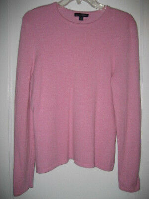 Classic Cashmere Crewneck Sweater (NEW! Designer SOFT 100% CASHMERE CrewNeck Sweater WOMEN'S M Classic)