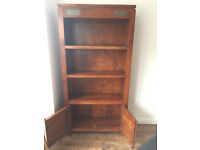 Solid Dark Oak Bookcase Fantastic Condition- moving house no room for it.