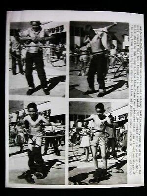 DENVER HULA HOOP TRICKS YOUNG BOYS  PHOTO 1958 (Hula Hoop Tricks)