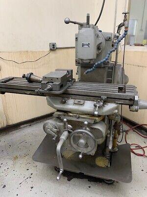 2 Kt Horizontal Milling Machine W Vertical Head   I-488