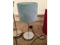 NEXT turquoise faux suede lamp (worth £25)