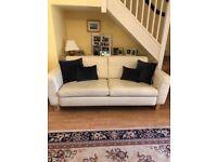 Lovely cream next leather sofa