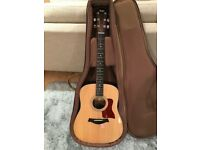 Taylor 210e-G Electro Acoustic Guitar with Taylor Case and Taylor Guitar Strap - As New