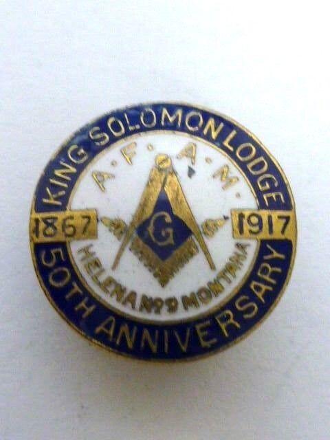 1867-1917 King Solomens Lodge 50th Anniversary Pin