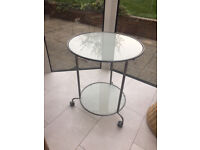 Glass coffee table, used