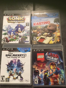 PS3 games.  $10 each or 4 for $30