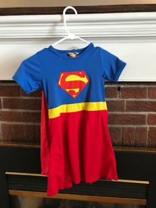 Super Girl Costume with Cape Size 5-6