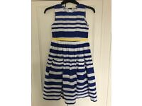 REDUCED! MINI BODEN Blue/White/Yellow sundress. Age 11-12 yrs