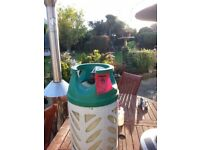 BP propane gas bottle 10KG empty refillable at Homebase or BP garage for BBQ