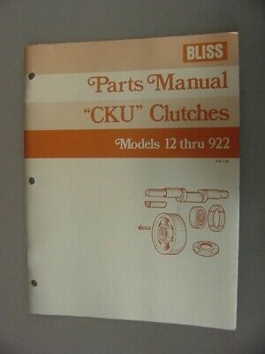 Bliss Chu Clutch Parts Manual 1988