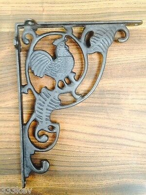 CAST IRON EDWARDIAN COCKEREL BRACKET SHELF BRACKETS WALL CISTERN BRACKET