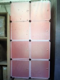 8x pink storage cubes with details