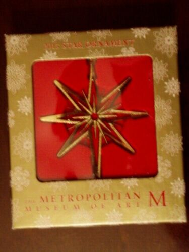 NEW Metropolitan Museum of Art 2015 Star Ornament Etched brass 18k gold overlay