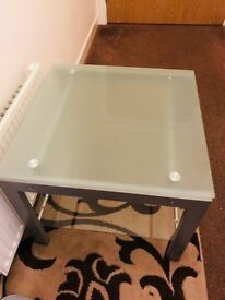 Glass top TV stand for sale