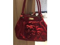 WOMENS/LADIES RED HANDBAG