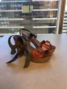 Ladies shoes - heel sandals - from Spain - Never worn