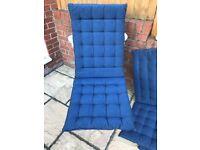 Cushions, Marine-Blue set of 6pcs for garden recliner.