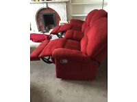 3 seater reclining settee